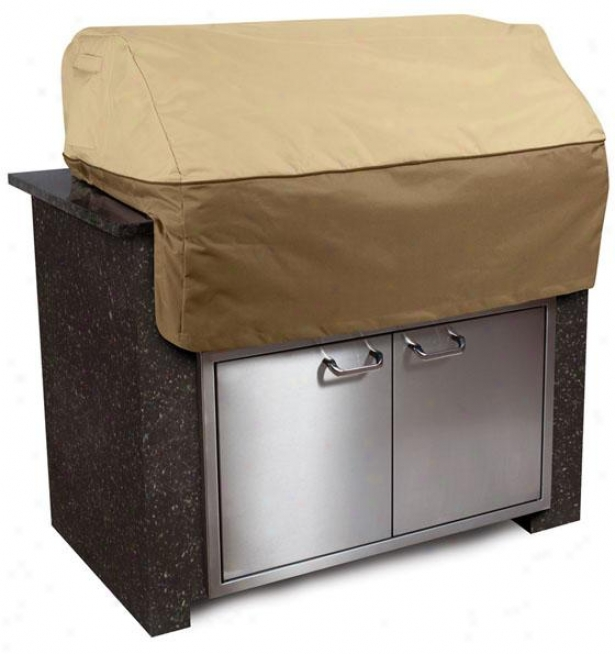 Island Grill Top Cover - Small, Pbbl/earth/bark