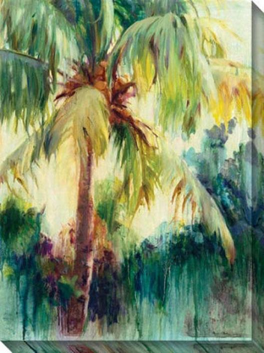 """island Palm Canvas Wall Art - 36""""hx48""""w, Green"""