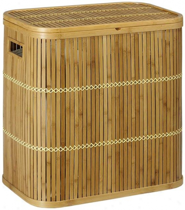 """isle Clothes Laundry Hamper  -22""""hx13""""w, Tan"""
