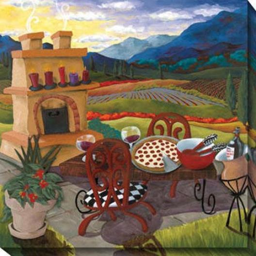 """italian Kitchen Canvas Wall Art - 40""""hx40""""w, Multi"""