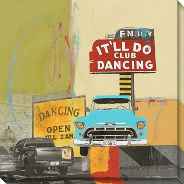 It'll Do Dancing I Canvas Wall Art - I, Ivory
