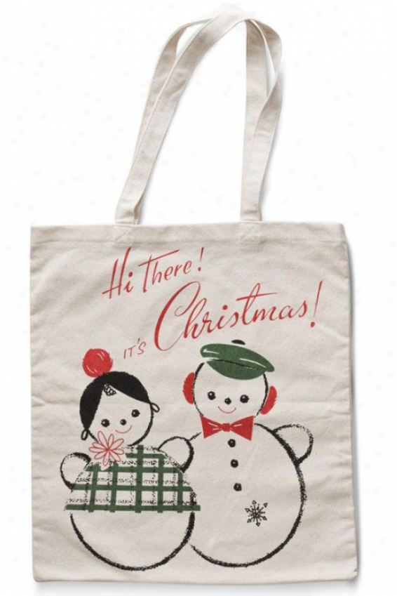 """it's Christmas Tote - 16""""hx16""""w, Holiday"""
