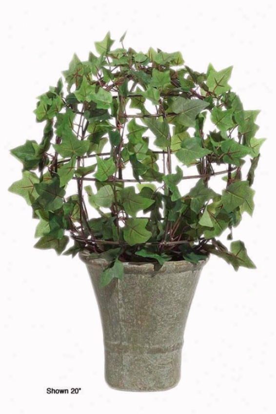 """ivy Bush Topiary - 30""""h, Ceraamic-like Bs"""