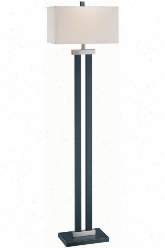 """james Floor Lamp - 16""""x59.5"""", Bronze"""