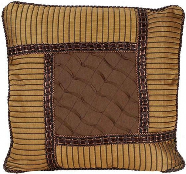 """jasmine Pillow - 18"""" Square, Brown"""