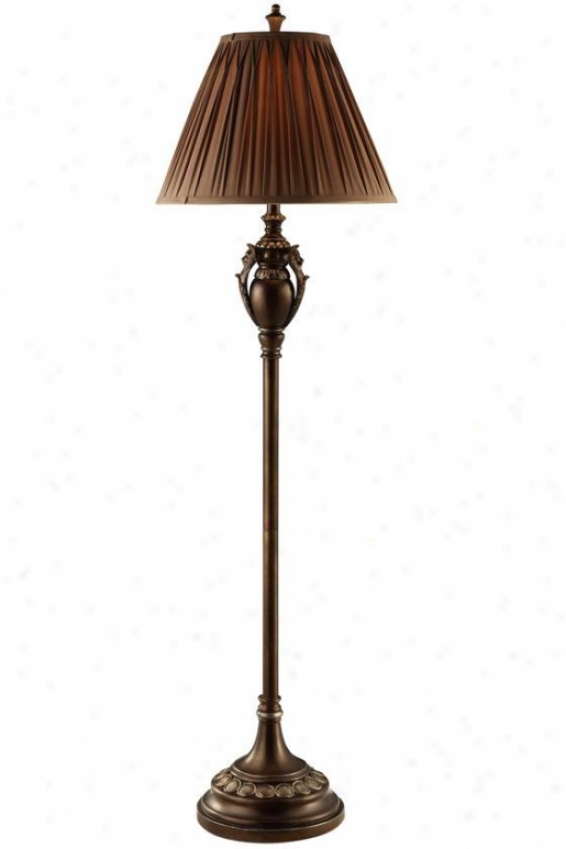 """jeanette Floor Lamp In Rubbed Bronze Finish - 62""""h, Rubbed Bronze"""