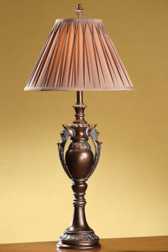 """jeanette Table Lamp - 37.5""""h, Rubbsd Brpnze"""