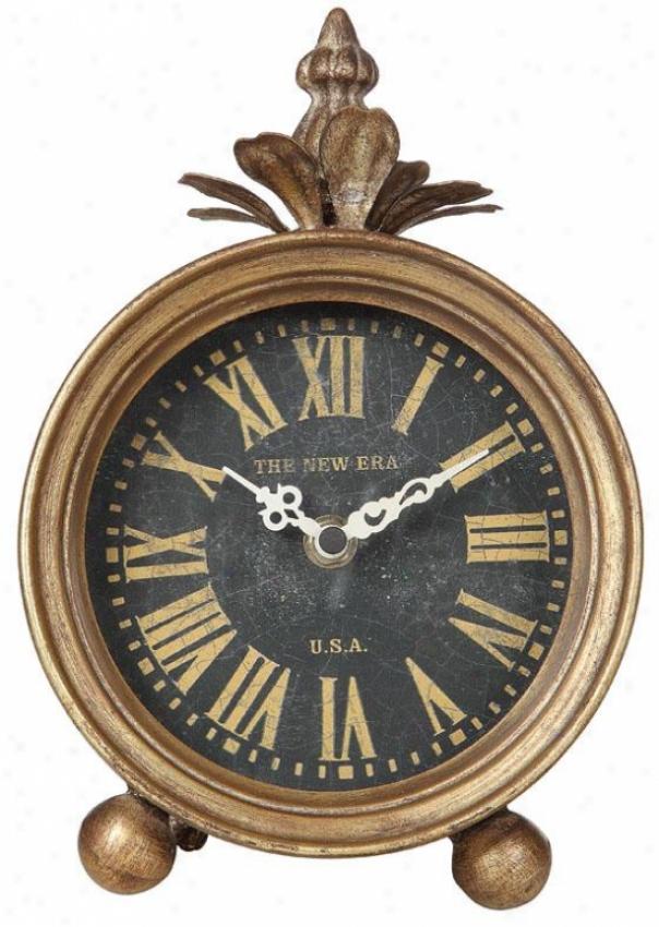 """jefferson Table Clock - 11""""hx8""""wx7""""d, Gold"""