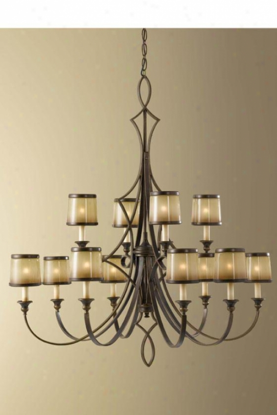 Jessica Chandelier - Twelve Light, Astral Bronze