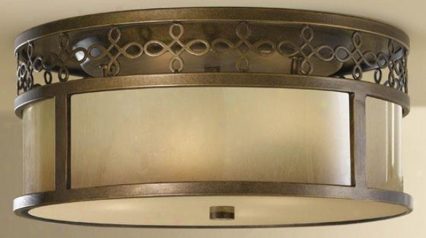 Jessica Flush Mount - 3 Light Flush, Astral Bronze