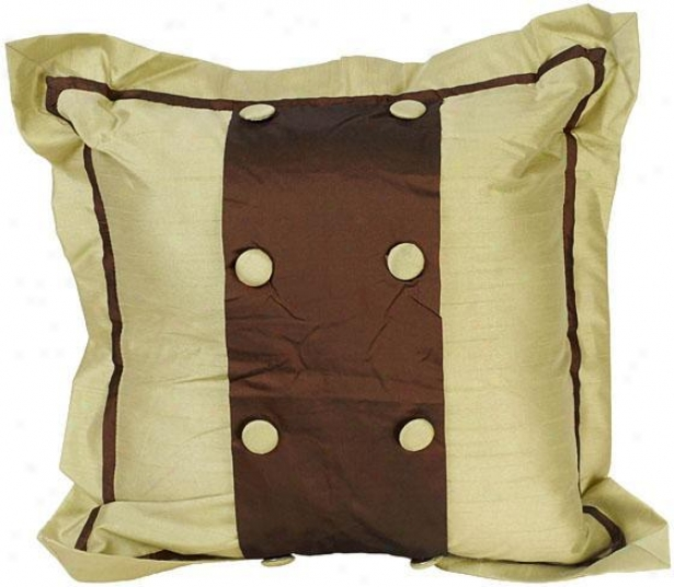 """jessica Pillow - 18"""" Squzre, Chocolate Brown"""