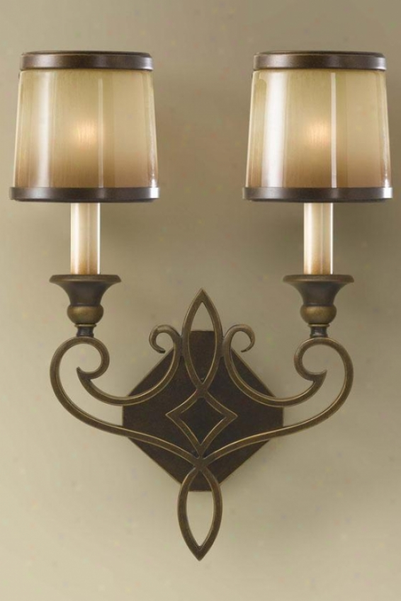 """""""jessica Wall Sconce - 17""""""""h X 13""""""""w, Astral Bronze"""""""