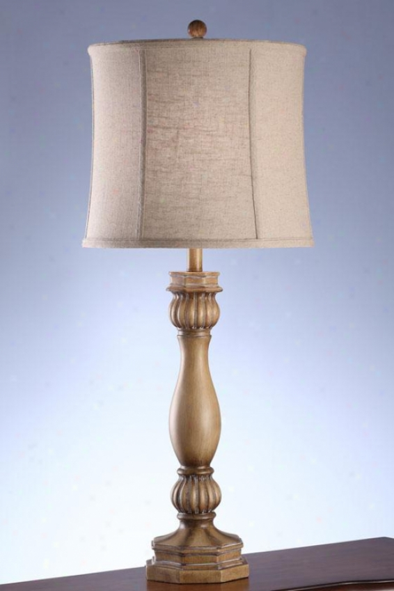"""jill Table Lamp In Sun Bleached Taupe - 36""""h, Sun Blchd Taupe"""