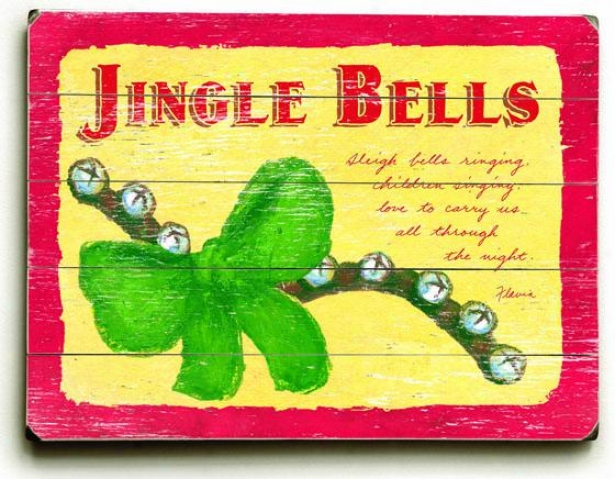 """jingle Bells Art - 30""""hx40""""w, Holiday Multi"""