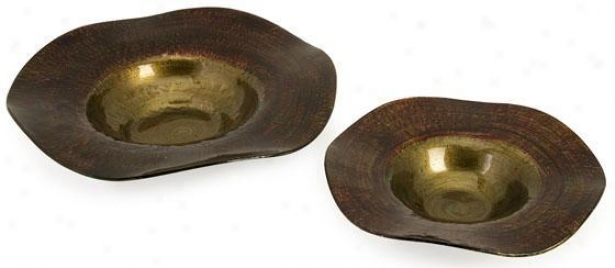 Joelle Bowls - Set Of 2 - Set Of 2, Bronze