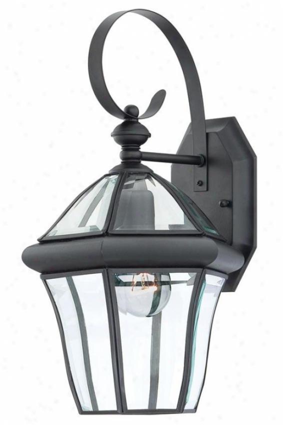 Jonas Medium Outdoor Wall Lantern - Medium, Black
