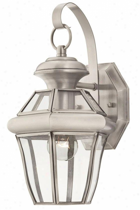 Jonas Small Outdoor Wall Lantern - Small, Gray