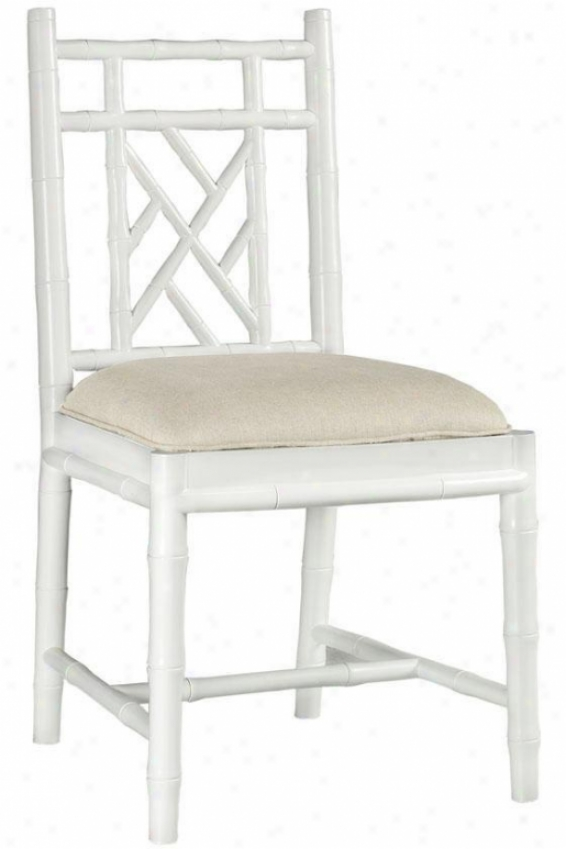 """julia Side Chair - 36""""hx20wx18.5""""d, White"""