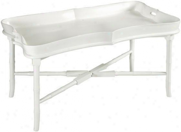 """julia Tray Coffee Table - 22""""hx49.5""""w, White"""