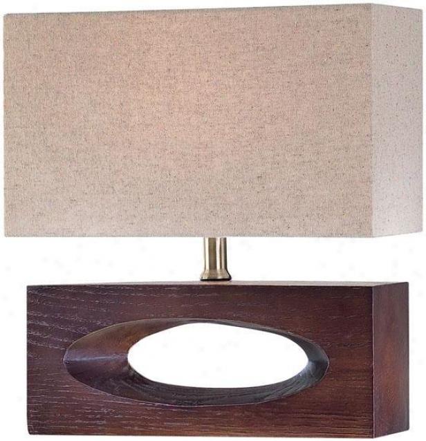 """julio Index Lamp - 16""""hx12""""d, Brown Wood"""