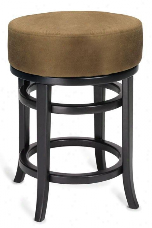 """juno Swivel Counter Stool - Backless 24""""h, Brown"""