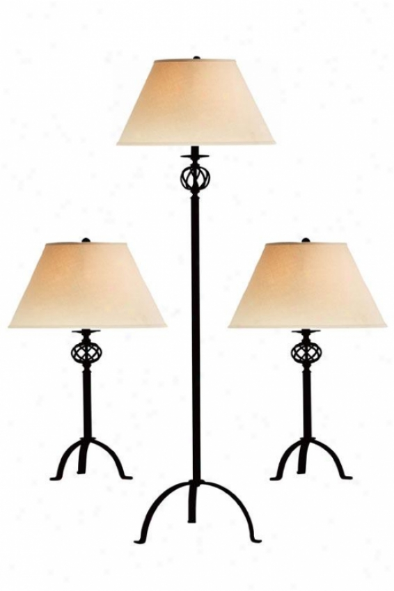 Jupiter Lamps - Set Of 3 - Set Of 3, Black