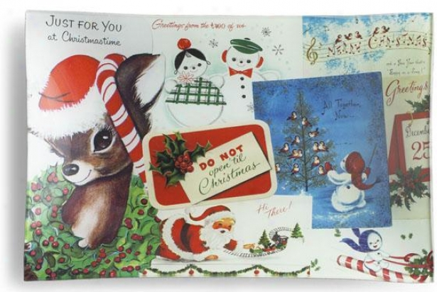 """jjst For You Rectangular Christmas Tra - 8""""hx12""""w, Holiday"""