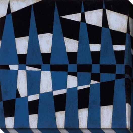 Juxtapose Ii Canvas Wall Art - Ii, Blue