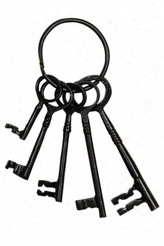 """kate Decorative Keys - 8""""hx3""""w, Black"""