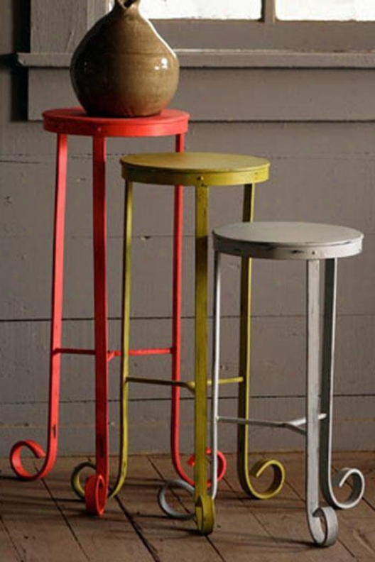 Kathryn Metal Plant Stand - Large, Red