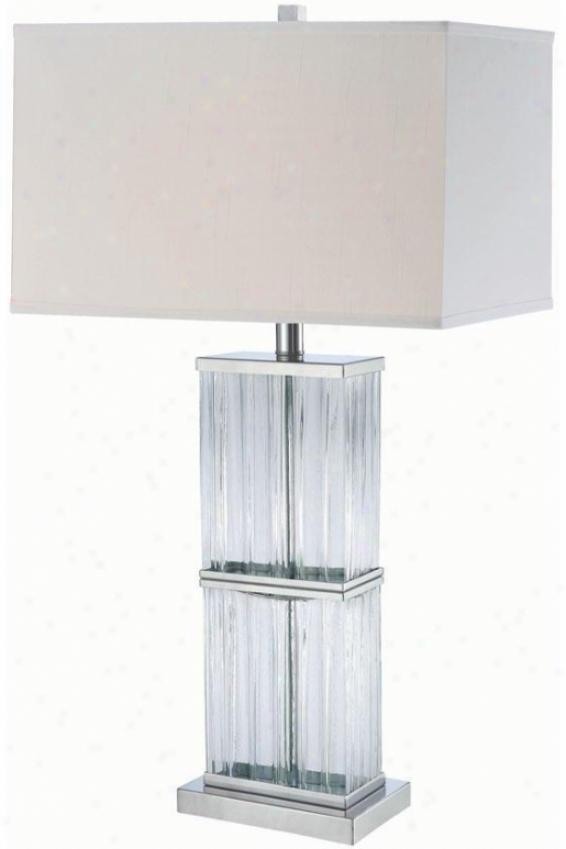 """""""kaveri Table Lamp - 8.5""""""""x23.5"""""""", Chrome/clear"""""""