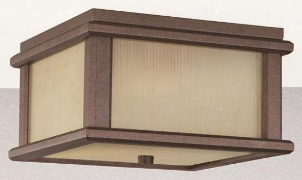 """keene Outdoor Flush Mount - 5.5""""h X 9""""w, Bronze"""