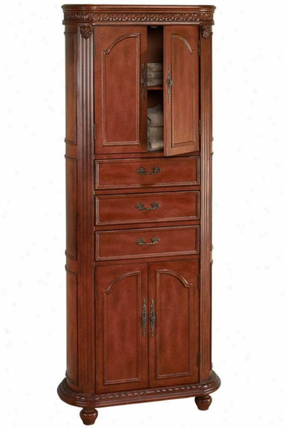 """""""kendall Linen Stoeage Cabinet - 67.5""""""""hx28""""""""w, Red"""""""