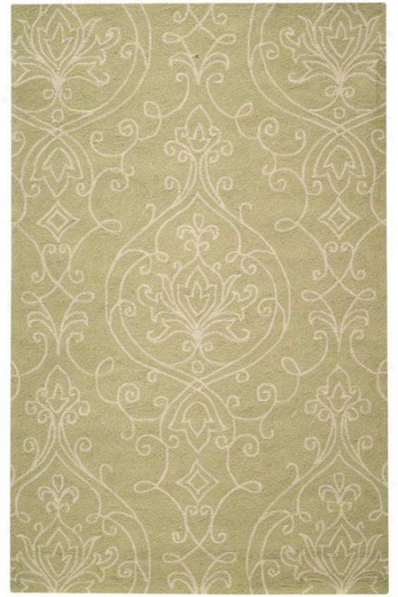 """kenilworth Indoor Outdoor Hooked Area Rug - 2'6""""x8' Runner, Sage"""