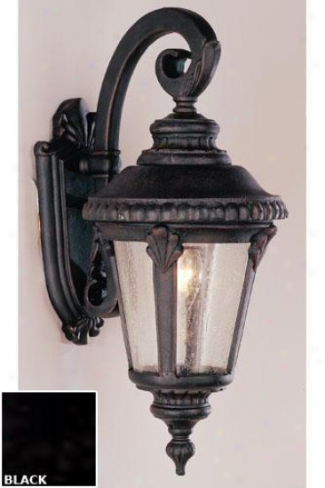 Kensihgton Small Wall Sconce - One-light, Black