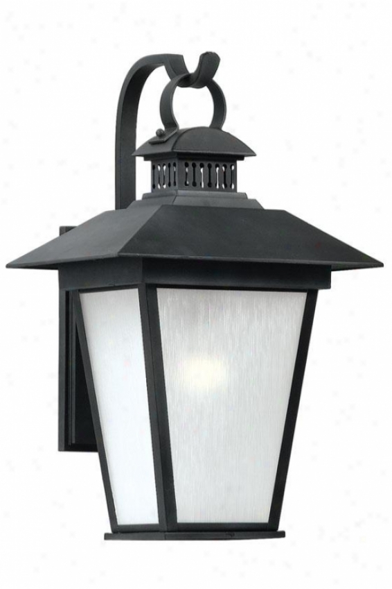Kent Large Outdoor Wall Lantern - Large, Black