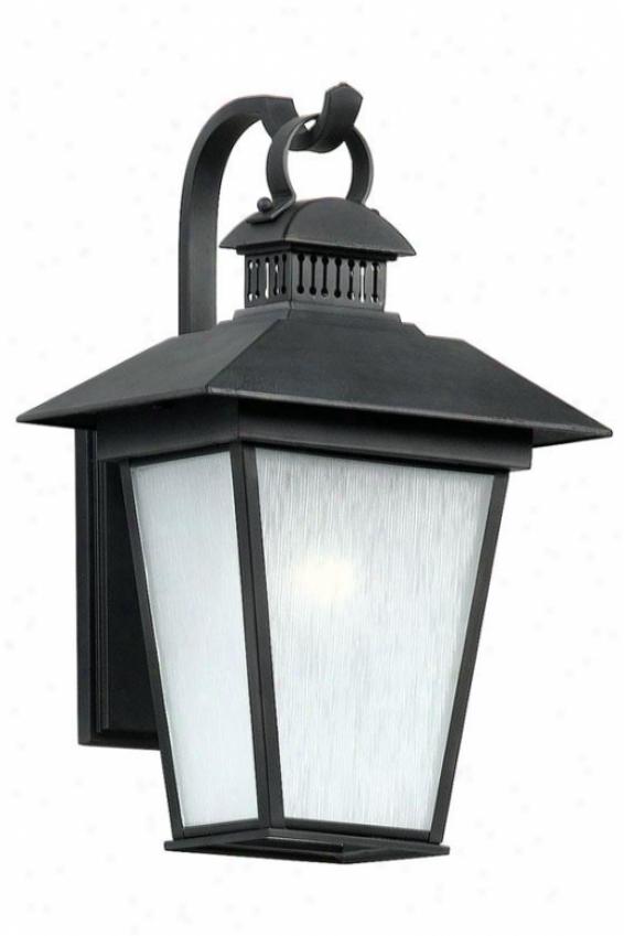 Kent Medium Outdoor Wall Lantern - Medium ,Bkack