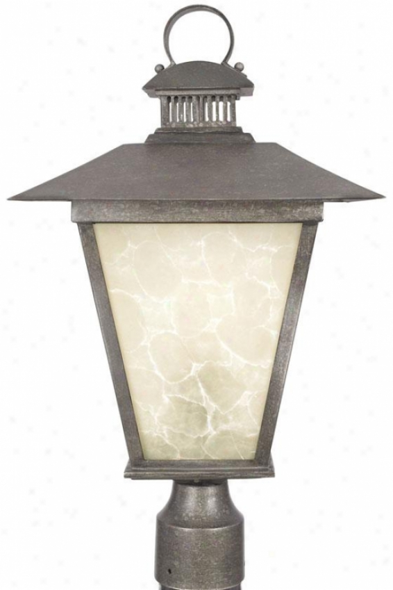 """kent Outdoor Post Lantenr - 20""""h, Hearst Bronze"""