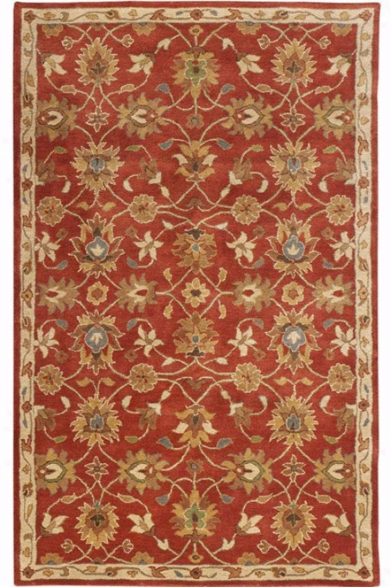 Kent Rug - 2'x3', Red