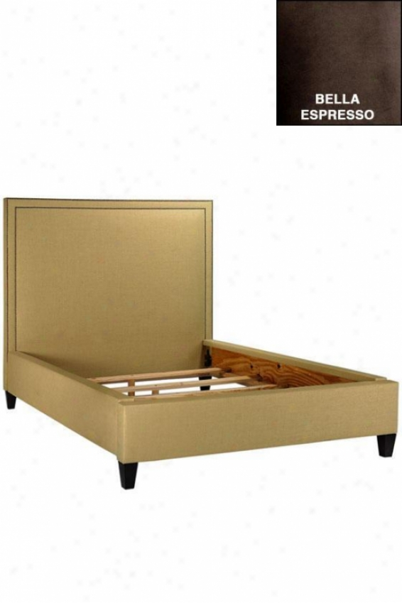 Kenter Custom Nailhead Bed - Qeuen, Bella Espresso