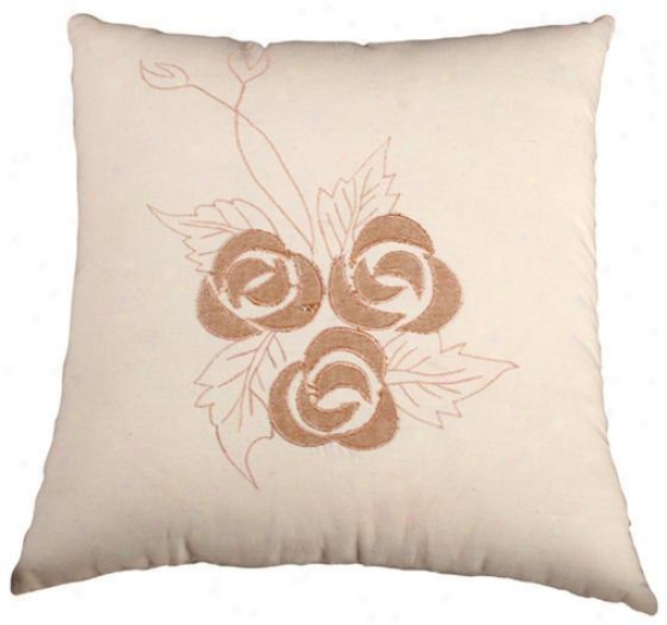 Kenton Pillow - 18x18, Ivory