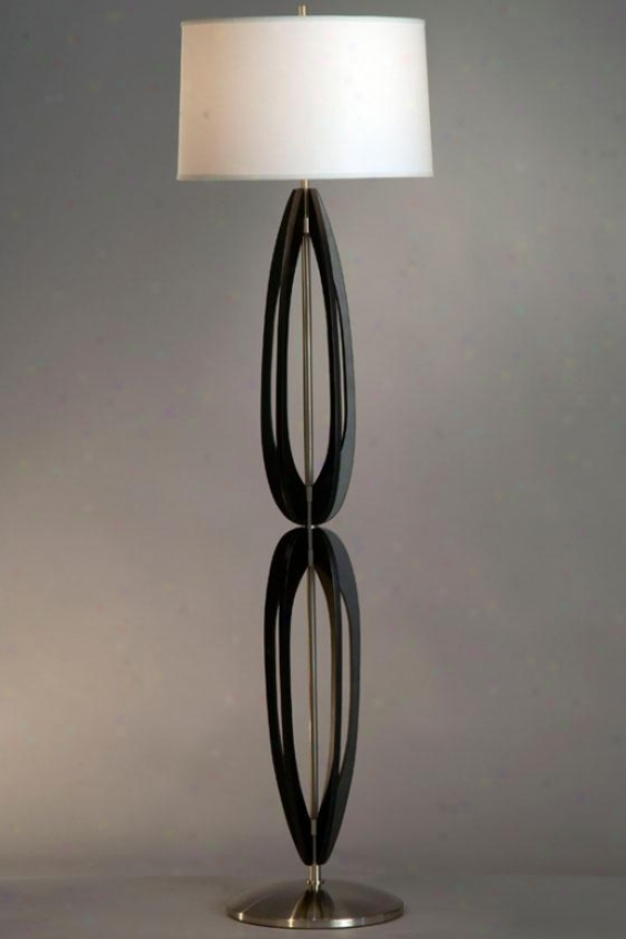 """kenzo Floor Lamp - 58 X 15""""w, Black"""