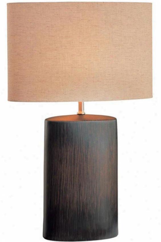 """""""keram Table Lamp - 24""""""""hx16""""""""d, Brown"""""""