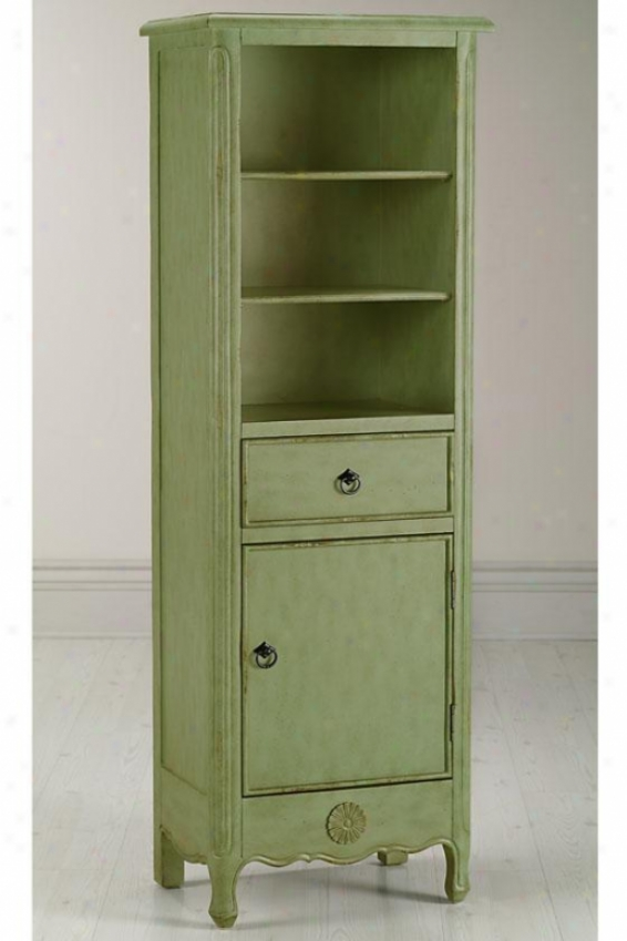 """keys Linen Storage Cabinet - 60""""hx20""""w, Green"""