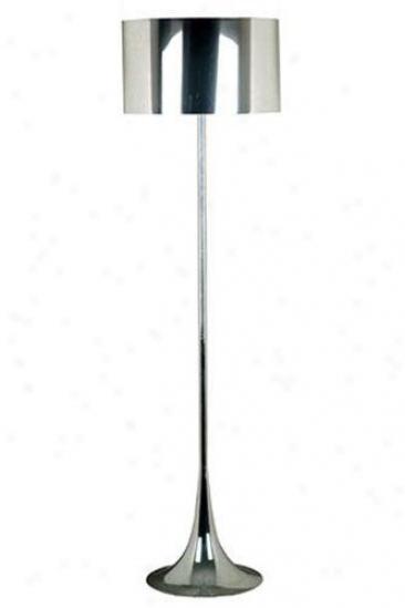 Keystone Floor Lamp - Chrome Mylar, Silver Chrome