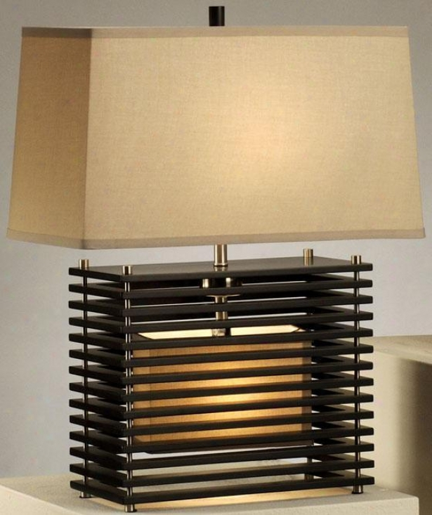 """kimura Reclining Table Lamp - 22""""h, Brown"""