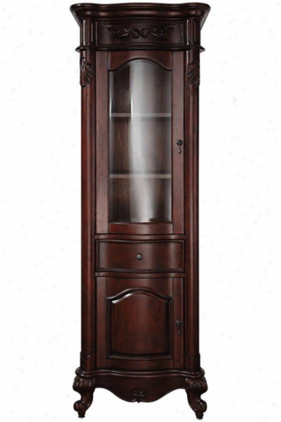 """king Linen Storage Cabinet - 24""""wx19""""d, Brick Red"""