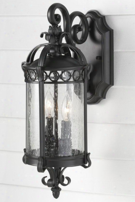 Kingscote Outdoor Wail Lantern - Two Lihgt, Black Sable