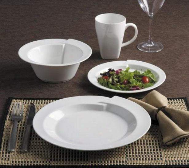 Kismet 16-piece Dinnerware Set - 16 Piece Determined, White