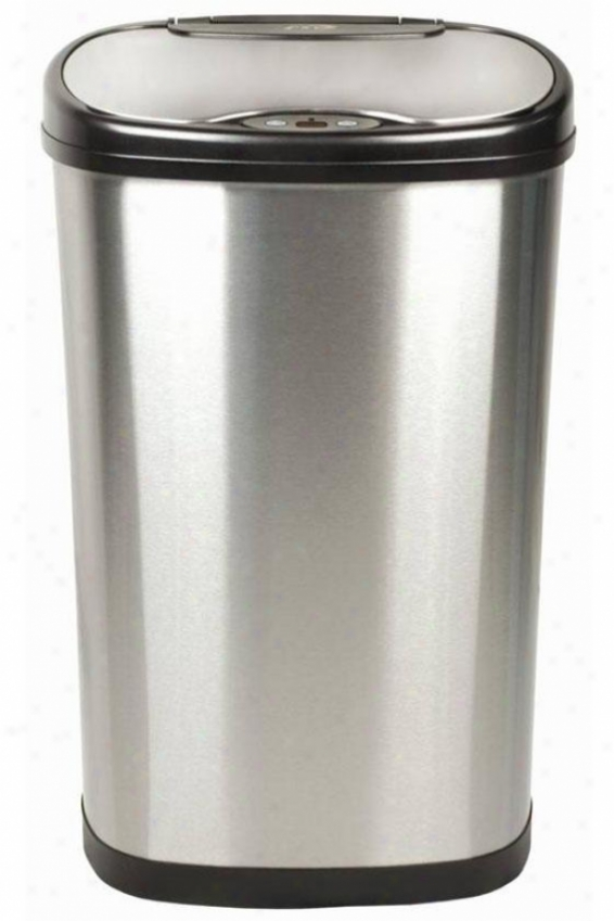 Kitchen Motion Detector Trash Can - 13.2 Gallons, Brushed Stainls